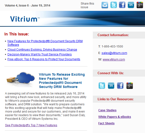 DRM & Document Security Newsletter - June 2014